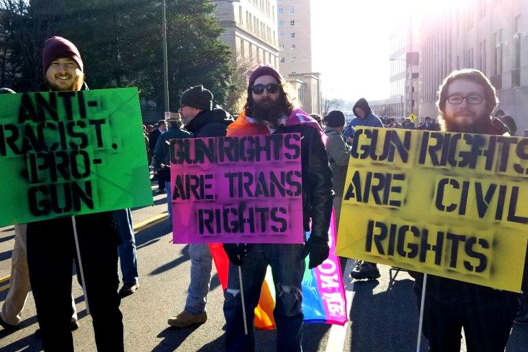 Demonstranter i Richmond, Virginia, Lobby Day 20. januar 2020. Foto: Dale Lock, Guns Save Lives